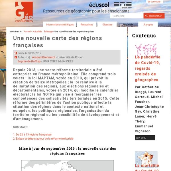 Une nouvelle carte des régions françaises