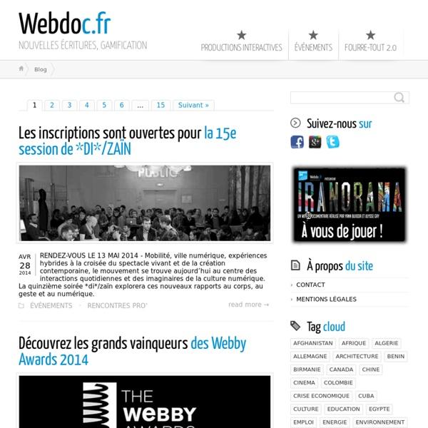 Webdoc.fr ← NOUVELLES ÉCRITURES, GAMIFICATION