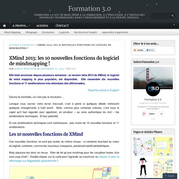 XMind 2013: les 10 nouvelles fonctions du logiciel de mindmapping