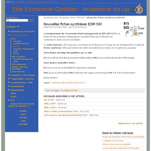 EM14 Choix d'externaliser