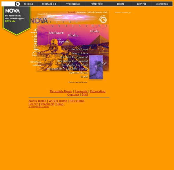 NOVA Online/Pyramids/Explore the Pyramids