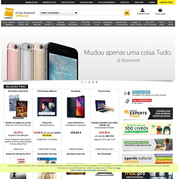 Livros, música, filmes, TV, LCD, Informática e Jogos. Compre online na Fnac.pt