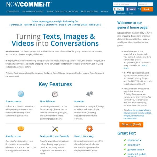 NowComment - Créer échanges et discussions autour d'un document