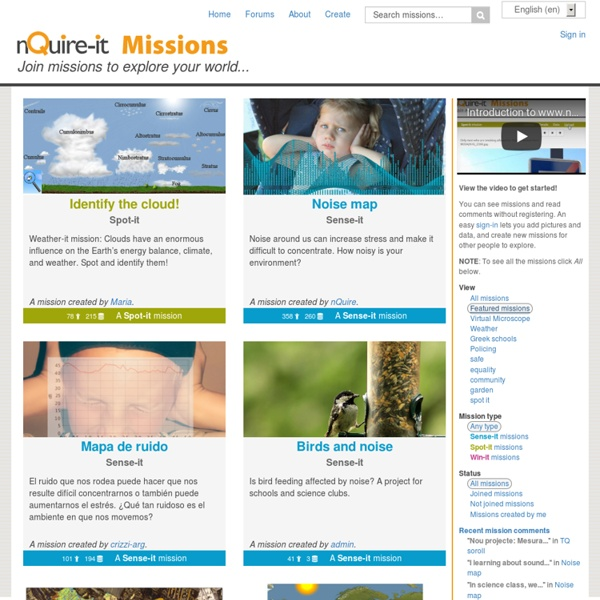 Join missions to explore your world