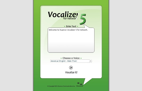Vocalizer 5 - Interactive Demo