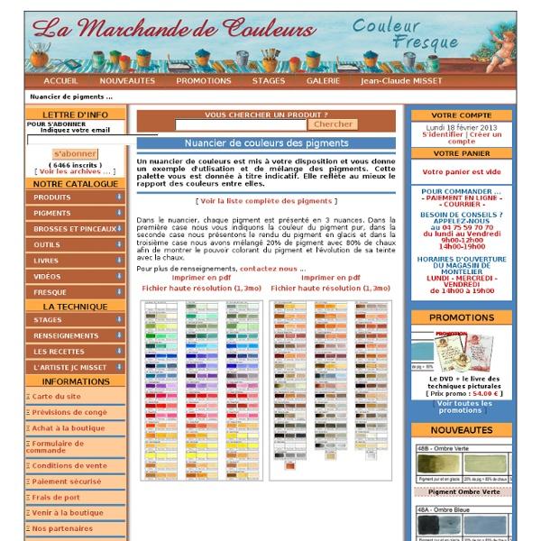 Nuancier de pigments