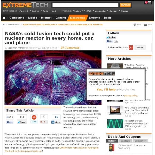 NASA's cold fusion tech could put a nuclear reactor in every home, car, and plane