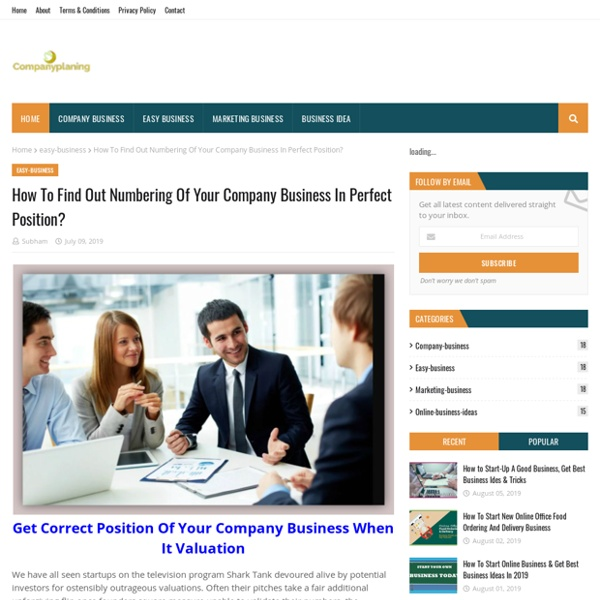How To Find Out Numbering Of Your Company Business In Perfect Position?