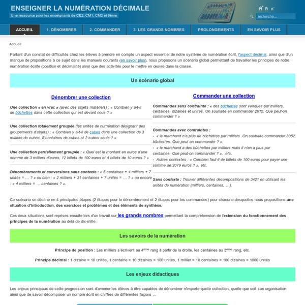 Accueil Numération au CE2 : ressources pour les enseignants