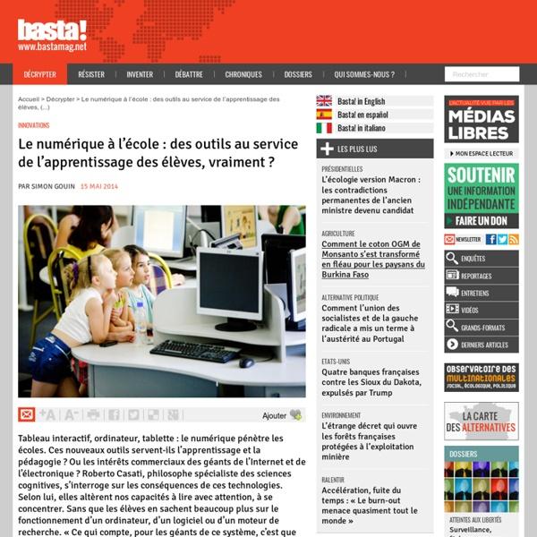 Le numérique à l'école : des outils au service de l'apprentissage des élèves, vraiment