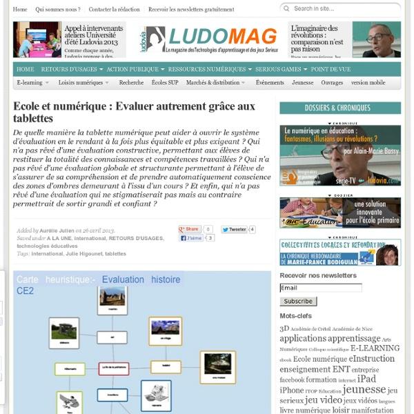 Ecole et numérique : Evaluer autrement grâce aux tablettes