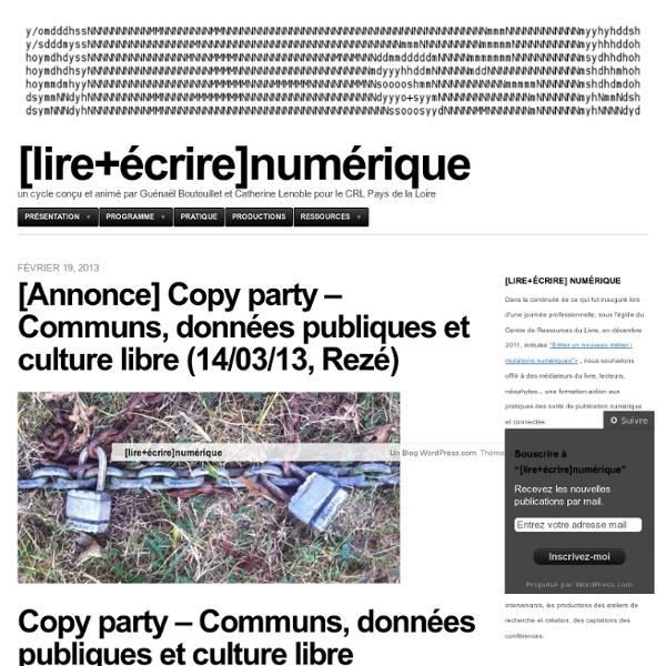 Un cycle conçu et animé par Guénaël Boutouillet et Catherine Lenoble pour le CRL Pays de la Loire