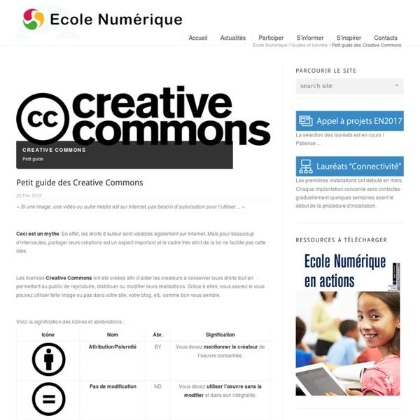Petit guide des Creative Commons