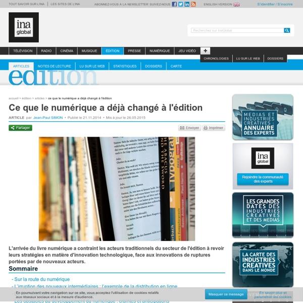 Ce que le numérique a déjà changé à l'édition