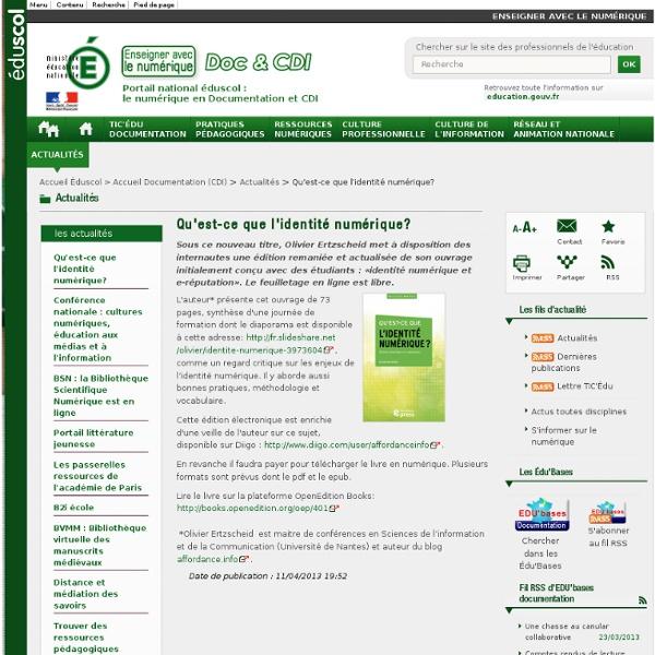 Qu'est-ce que l'identité numérique? — Documentation (CDI)