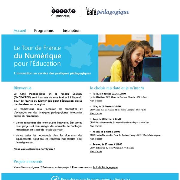 Le Tour de France du Numérique pour l'Education - Accueil