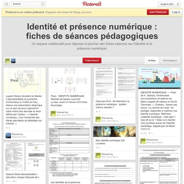 Identité et présence numérique : fiches de séances pédagogiques