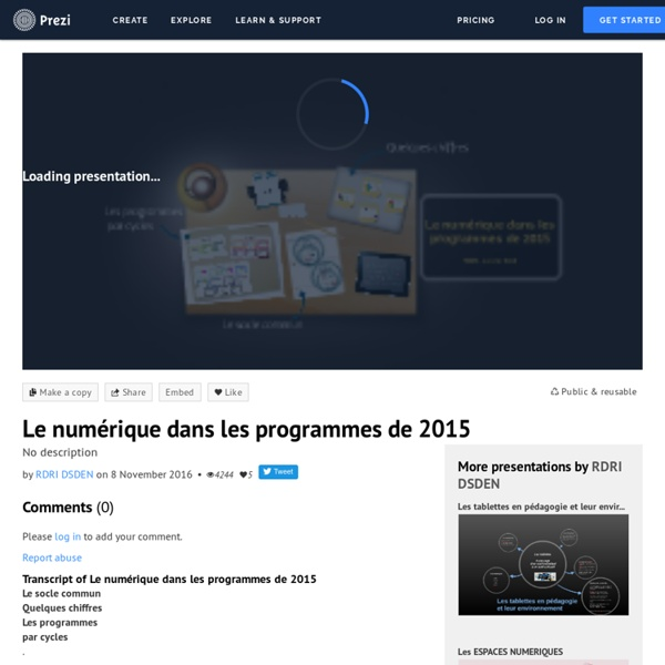 Le numérique dans les programmes de 2015 by RDRI DSDEN on Prezi