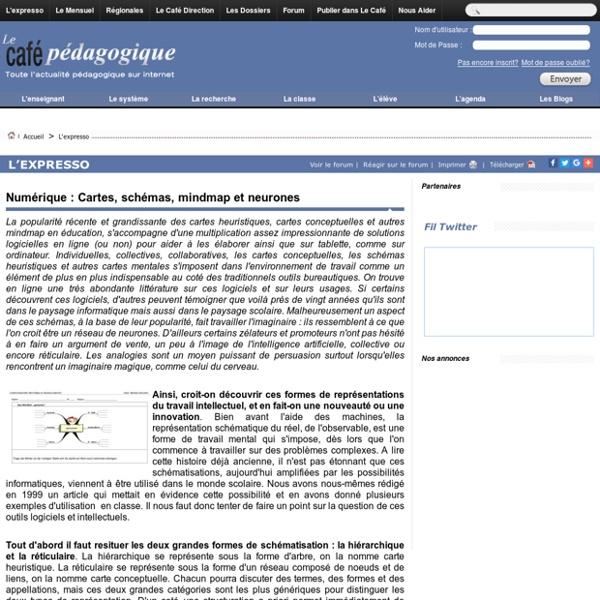 Numérique : Cartes, schémas, mindmap et neurones