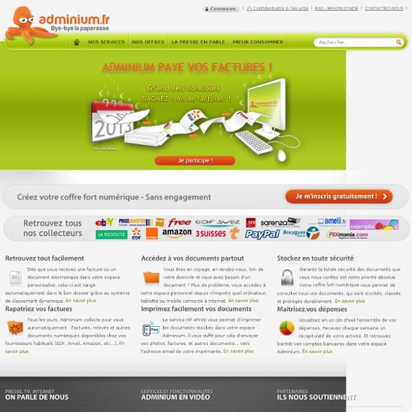 Adminium - Le coffre fort numérique nouvelle génération