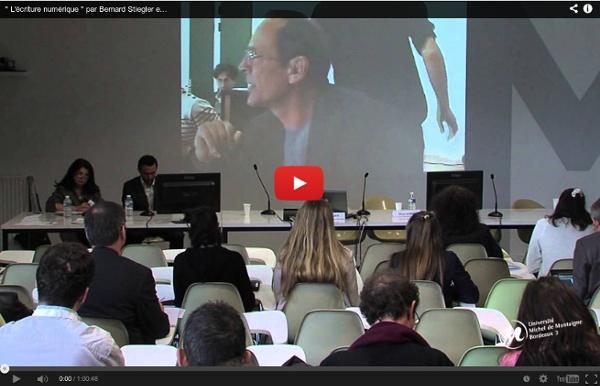 """"""" L'écriture numérique """" par Bernard Stiegler en visioconférence"""