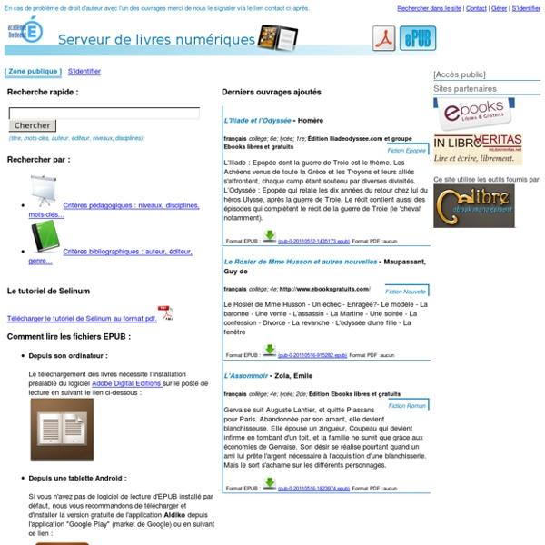 Serveur de livres numériques de l'Académique de Bordeaux