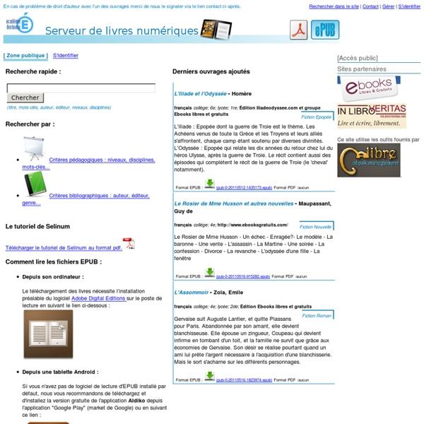 Livres numériques - Académique de Bordeaux
