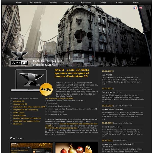 Artfx : Ecole 3D d'effets spéciaux numériques, animation 3D et formation 3d