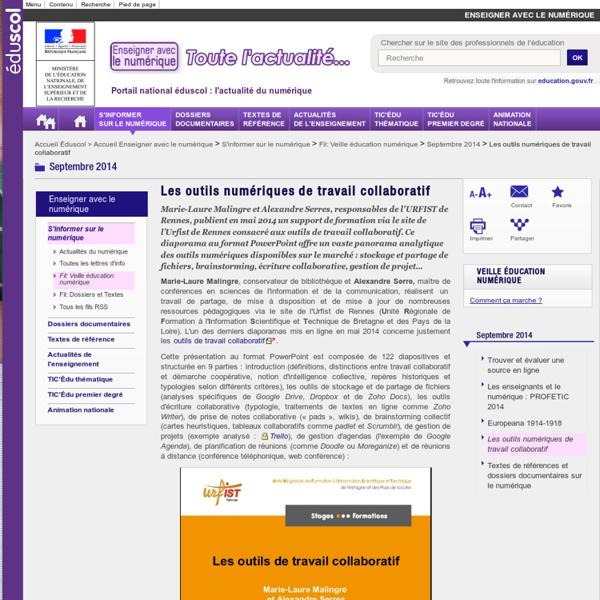 Les outils numériques de travail collaboratif — Enseigner avec le numérique — Éduscol numérique