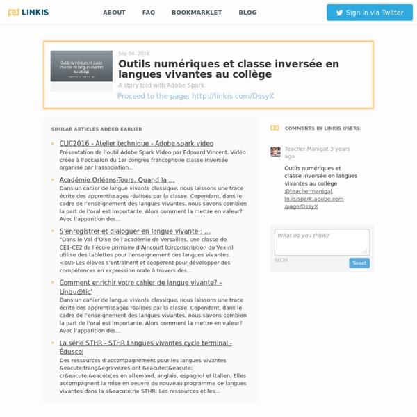 Outils numériques et classe inversée en langues vivantes au collège