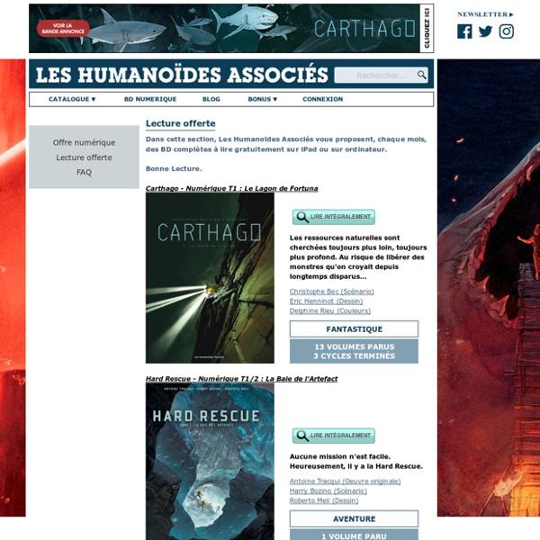 Les Humanoïdes associés - BD numériques à lire gratuitement