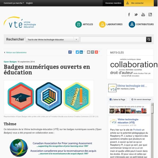 Badges numériques ouverts en éducation