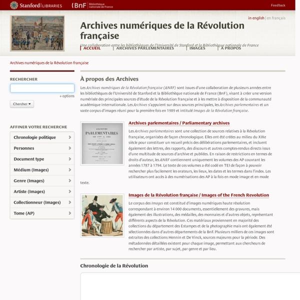 Archives numériques de la Révolution française