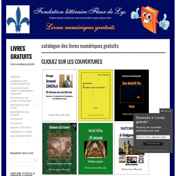 Libre téléchargement de livres numériques grattuits