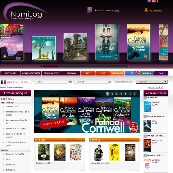 Votre librairie de livres numériques (eBook)