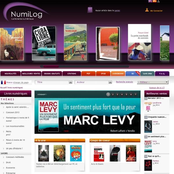 NUMILOG : votre librairie de livres numériques (Ebook)