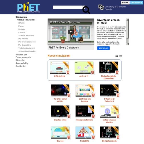 Nuove simulazioni - Simulazioni in PhET