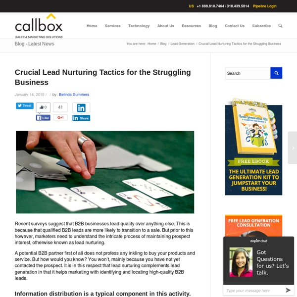 Crucial Lead Nurturing Tactics for the Struggling Business