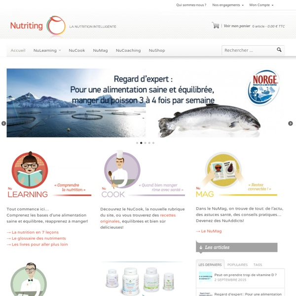 Nutriting - La nutrition intelligente