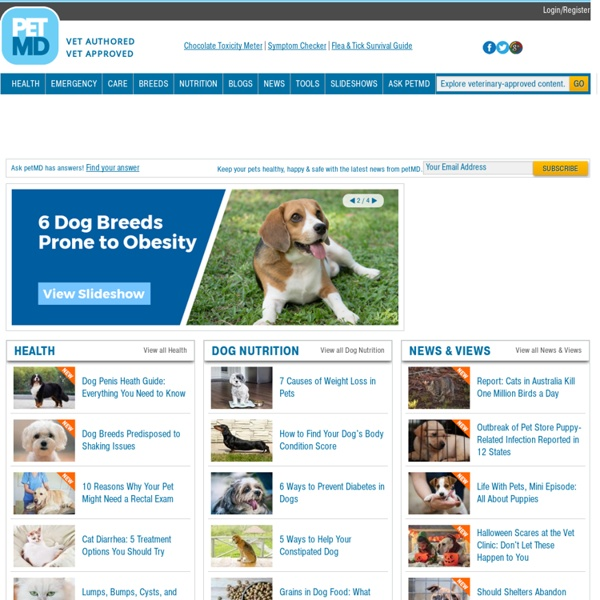 Pet Health & Nutrition Information & Questions