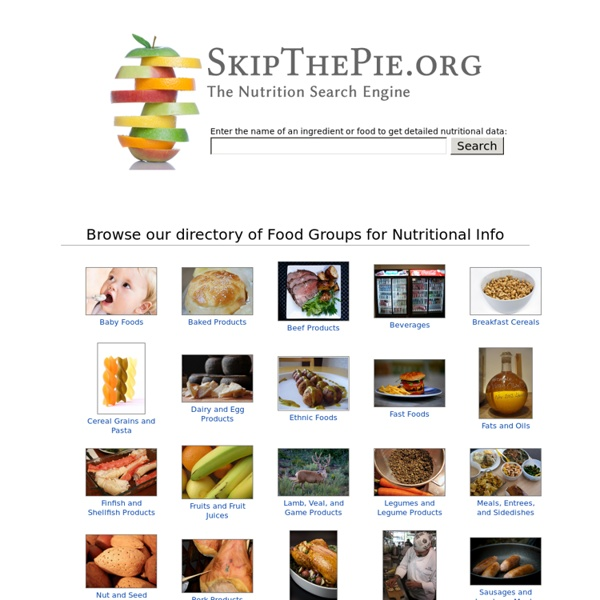 The Nutrition Search Engine - SkipThePie.org