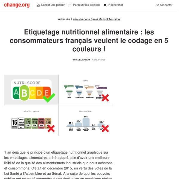 Etiquetage nutritionnel alimentaire: les consommateurs français veulent le code 5 couleurs
