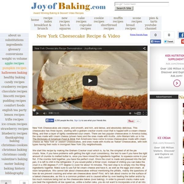 NY Cheese Cake Recipe