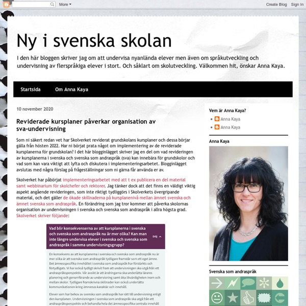 Ny i svenska skolan