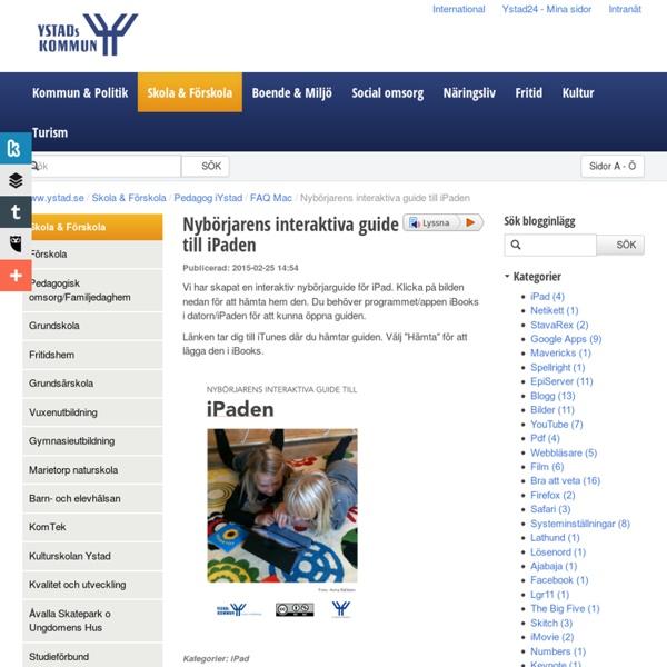 Nybörjarens interaktiva guide till iPaden - Ystads kommun