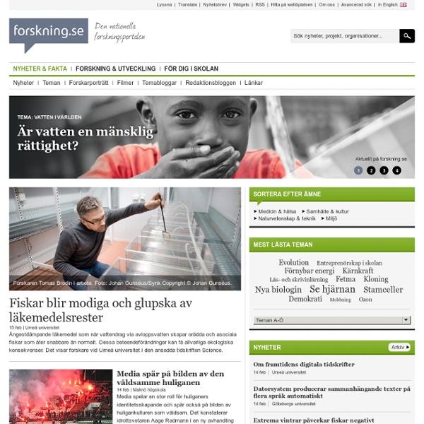 Nyheter & fakta - forskning.se