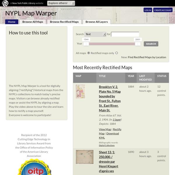 Map Warper: Home