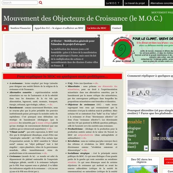 Le Mouvement des Objecteurs de Croissance (le M.O.C.)