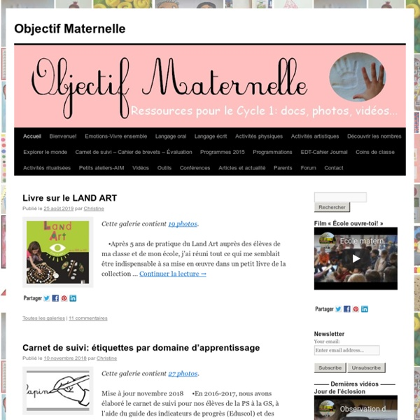 Objectif Maternelle -Objectif Maternelle