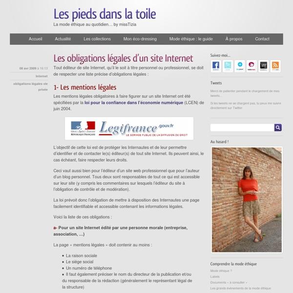 Les obligations légales d'un site Internet